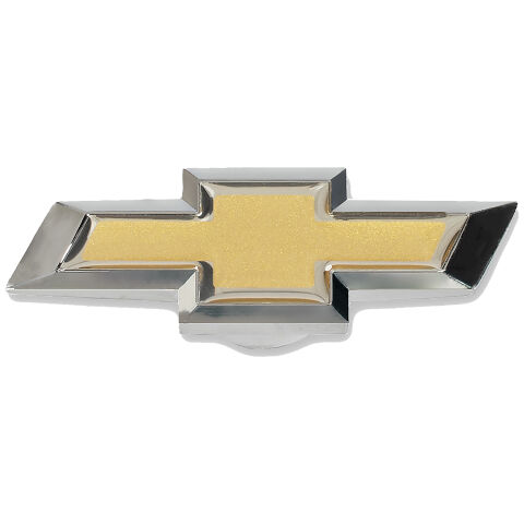 Extra-Large Air Cleaner Center Nut; Chevy Bowtie Style; Black Crinkle w/ Gold